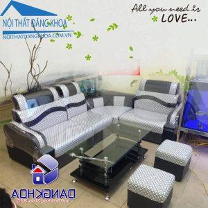 Thanh lý ghế sofa góc kẻ ô giá rẻ nhất Hà Nội