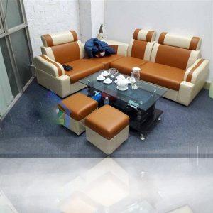 Thanh lý Bộ sofa góc màu bò mới 100%