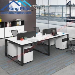 Thanh lý cụm bàn làm việc vách ngăn 4 chỗ - TLBGDK101